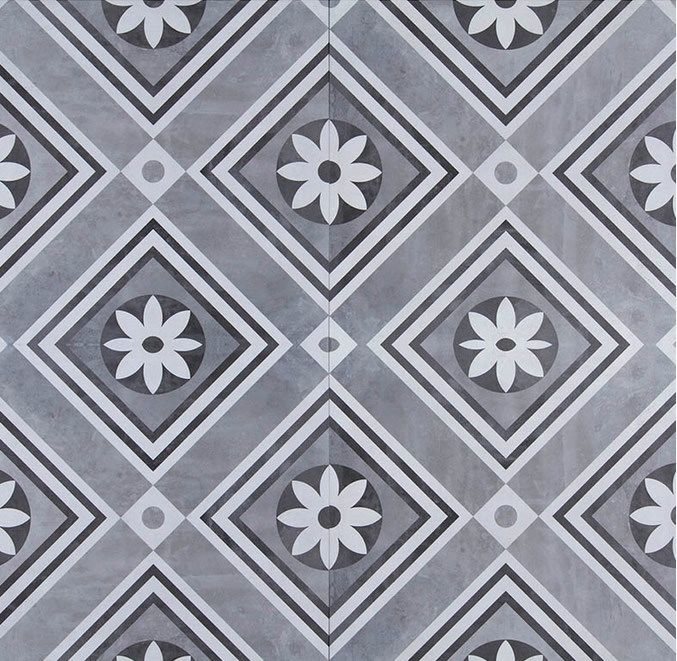 GeoCeramica® Concreet, kleur Flower, 60x60x4cm