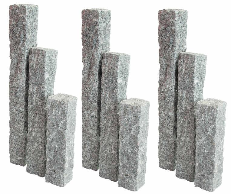 Palissade Graniet Grijs Naturel