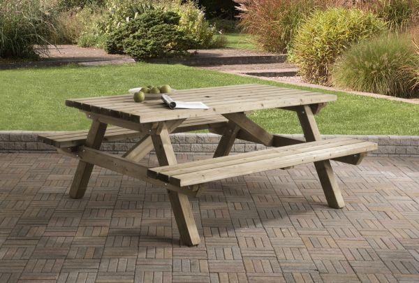 Picknicktafel rechthoek 0406