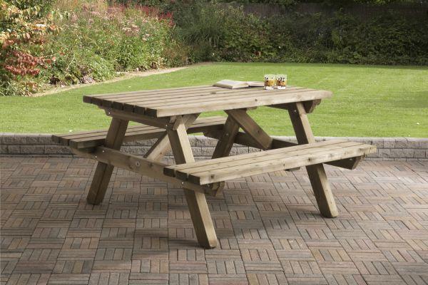 Picknicktafel rechthoek 0407
