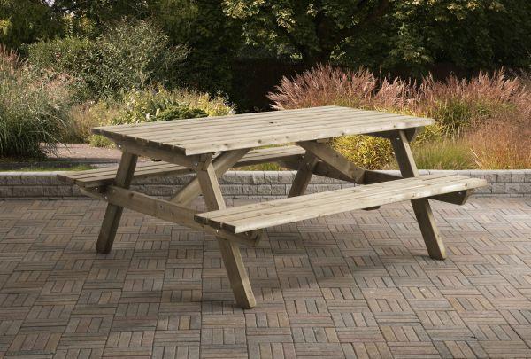 Picknicktafel rechthoek 0408