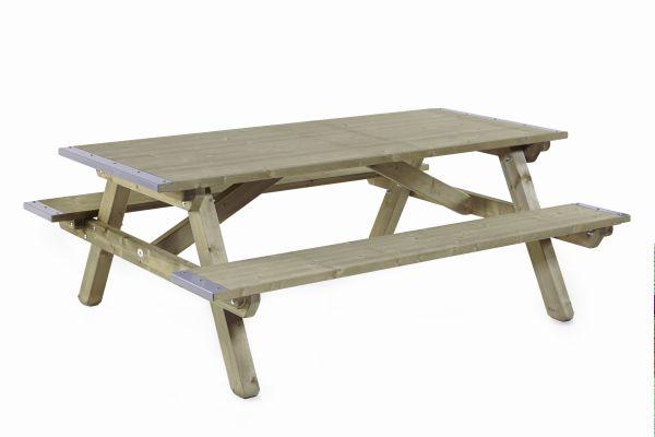 Picknicktafel met dicht blad en dichte zitting 0505