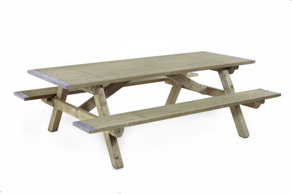 Picknicktafel met dicht blad en dichte zitting 0509