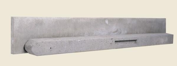 Stampbeton schuttingsysteem, grijs