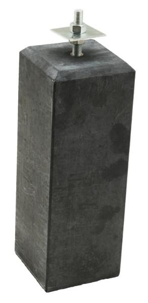 Betonpoer antraciet met verstelbare plaat