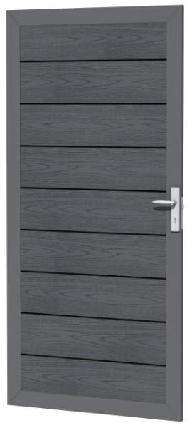 Composiet deur houtmotief