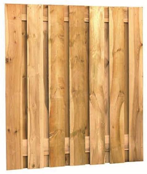 Fijnbezaagd grenen 2m scherm, 15 planks, 17 mm