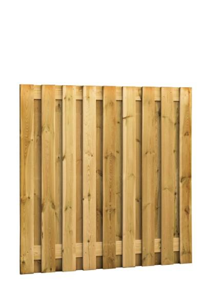 Grenen scherm, 19 planks, 16 mm