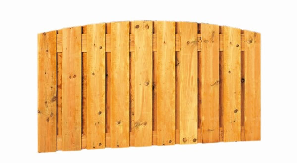 Grenen toogschermen, 21 planks, 17 mm