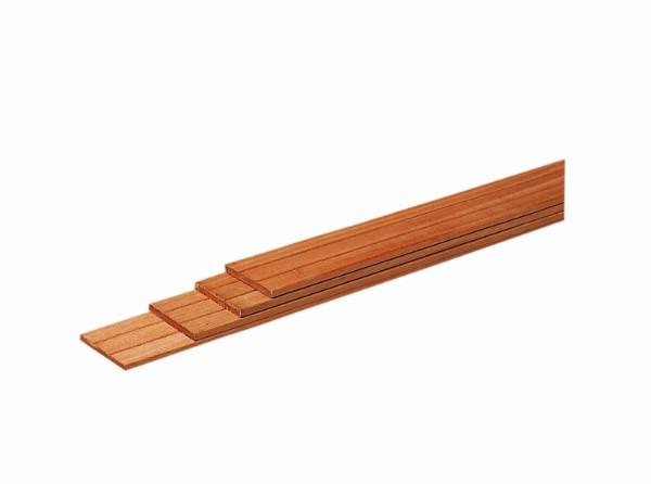 Hardhouten geschaafde planken 1,5 x 14,5 cm