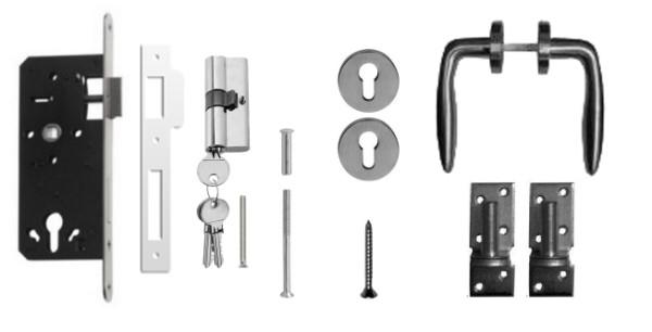 Hang- en sluitwerk t.b.v. deuren op stalen frame