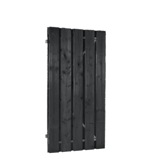 Grenen deuren op verstelbaar stalen frame