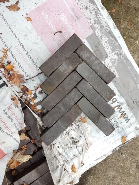 gebakken waalformaat 5x20x6 Zwart